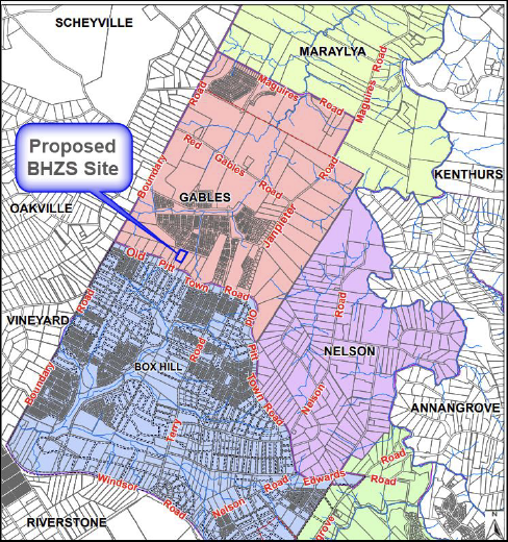 Proposed Box Hill Zone Substation site